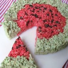 Watermelon Rice Krisipies Treats
