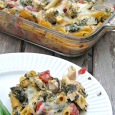 Make Ahead Dinners- Chicken & Spinach Pasta Bake Recipe