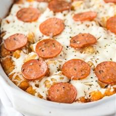 Pizza Tater Tot Casserole