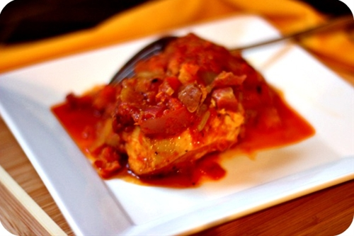 Chicken in Roasted Red Pepper Sauce