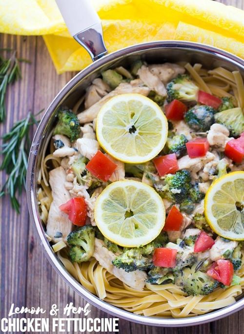 Lemon & Herb Chicken Fettuccine