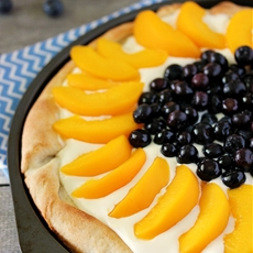 Peach & Blueberry Pizza