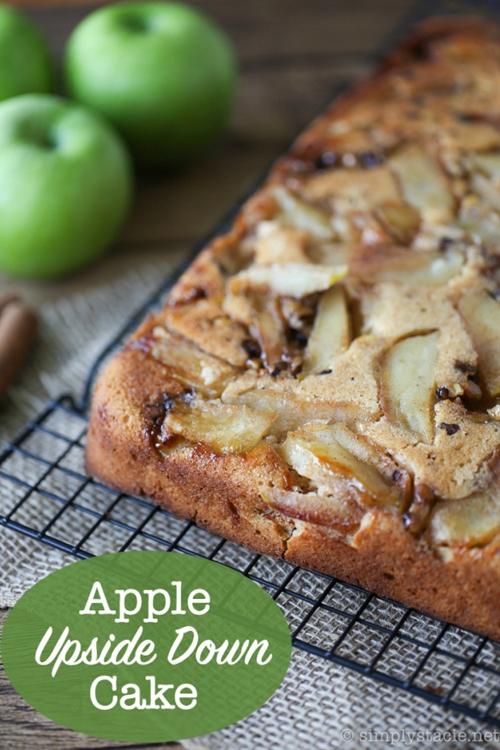 Apple Upside Down Cake recipe | Chefthisup