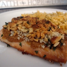 Peanuts Salmon Steak