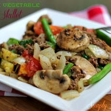 Garden Vegetable Beef Skillet