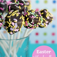 Easter Marshmallow Pops