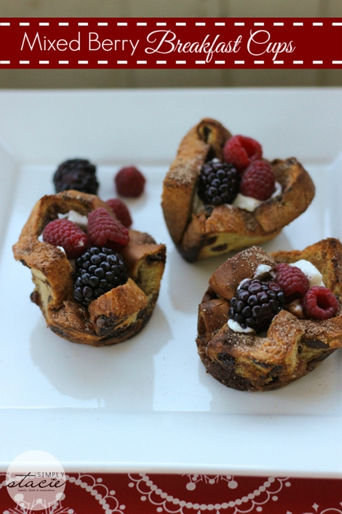 Mixed Berry Breakfast Cups