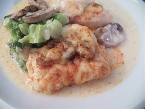 Chicken Prosciutto with Mushroom Sauce