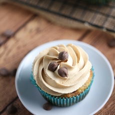Banana Chocolate Chip Cupcakes with Peanut Butter Frosting