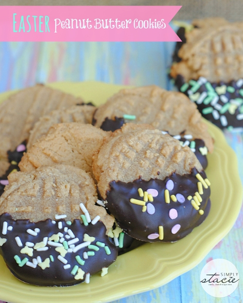 Easter Peanut Butter Cookies