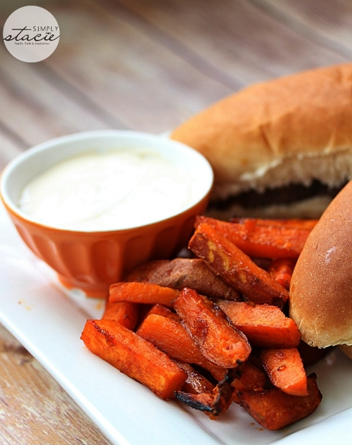 Spicy Sweet Potato Fries with Hoison Dip