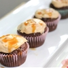 Chocolate Cupcakes with Salted Caramel Cream Cheese Topping