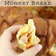 Ham and Cheese Stuffed Monkey Bread