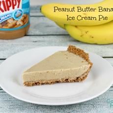 Peanut Butter Banana Ice Cream Pie