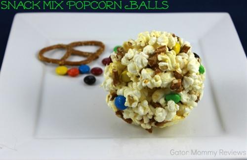 Snack Mix Popcorn Balls