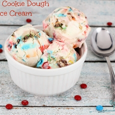 M&M Cookie Dough Ice Cream (No Machine Needed!)