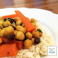 Moroccan Chickpea and Carrot Tagine Stew