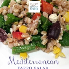 Mediterranean Farro Salad - Healthy Meal Planning Week of January 27 -