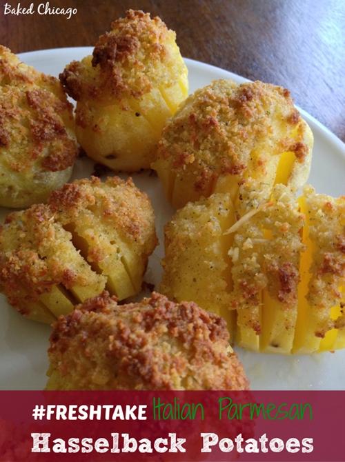 Italian Parmesan Hasselback Potatoes