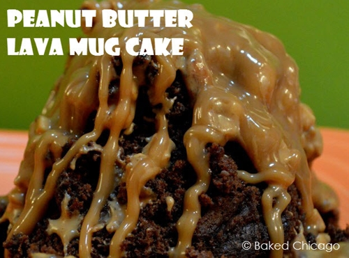 Peanut Butter Lava Mug Cake