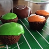 Football Fumble Nutter Brownie Bites