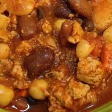 Hearty 6-Bean Slow Cooker Chili with Sweet Peppers