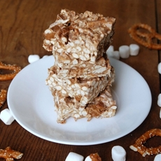 Pretzel Toffee Marshmallow Treats