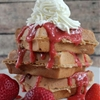 Strawberry belgian waffle recipe