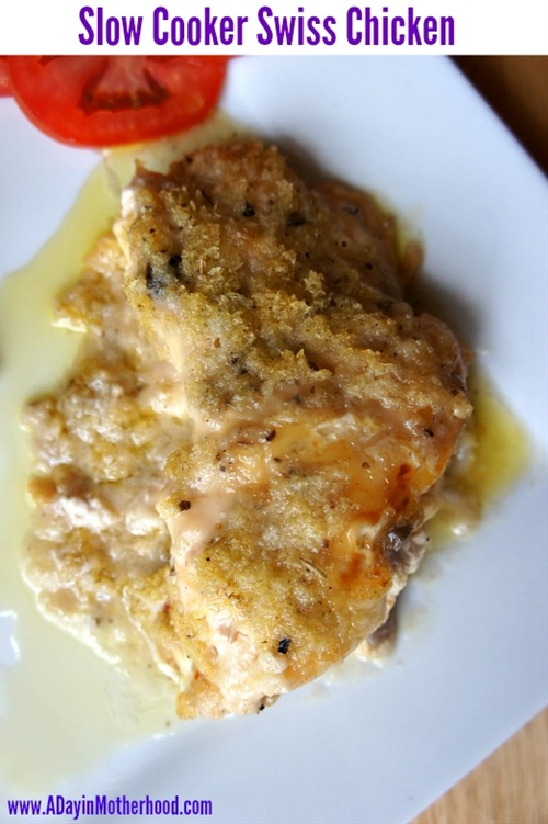 Slow Cooker Swiss Chicken