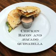 Chicken Bacon Quesadilla with Chipotle Sauce