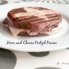 Pretzel Ham and Cheese Panini