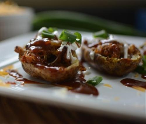 Tailgate BBQ Potato Skins Appetizer
