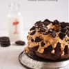Oreo Cake with Peanut Butter Frosting
