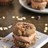 Banana Bread Cookie Sandwich Bites with Chocolate Peanut Butter