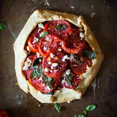 Tomato Galette with Fresh Basil and Feta