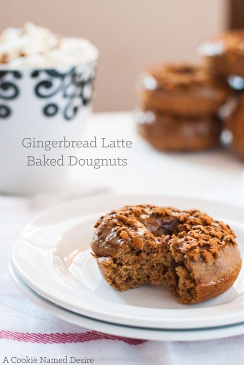 Healthy Baked Gingerbread Latte Dougnut