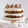 Gingerbread Cake with Cinnamon Buttercream + Gingerbread Cookie