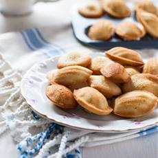 Vanilla Bean Rose Madeleines