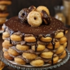 Doughnut Cake with Mocha Whipped Cream