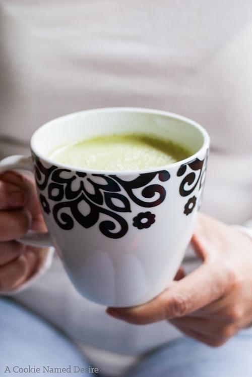 Salted Matcha White Hot Chocolate