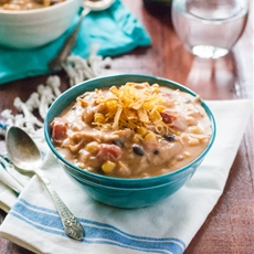 Lightened Chicken Taco Soup