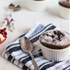 Chocolate Clafoutis with Pomegranate Curd
