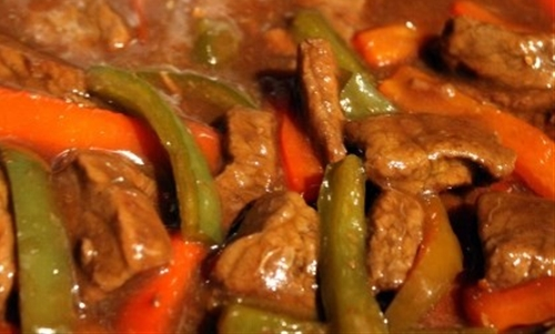 Crock pot pepper steak recipe