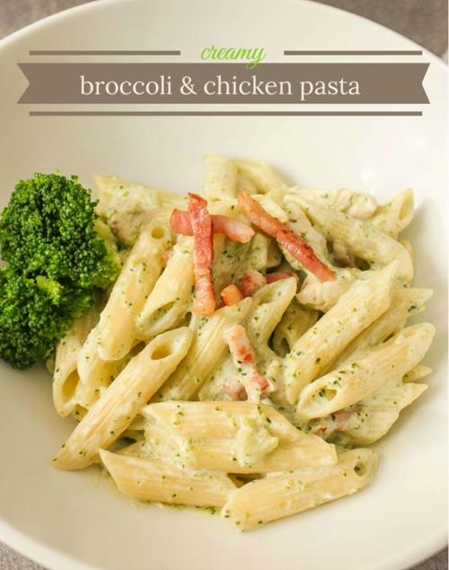 Creamy Broccoli and Chicken Pasta