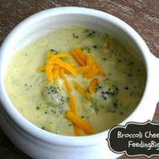 Best ever broccoli cheese soup - feeding big