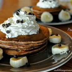 Banana, Peanut Butter, Chocolate Pancakes
