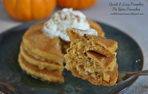Quick & Easy Pumpkin Pie Spice Pancakes