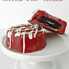 Red Velvet Chocolate Covered Oreos