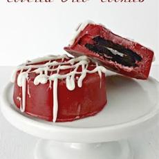 Red Velvet Chocolate Covered Oreos