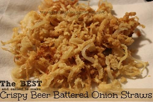 Crispy Beer Battered Onion Straws